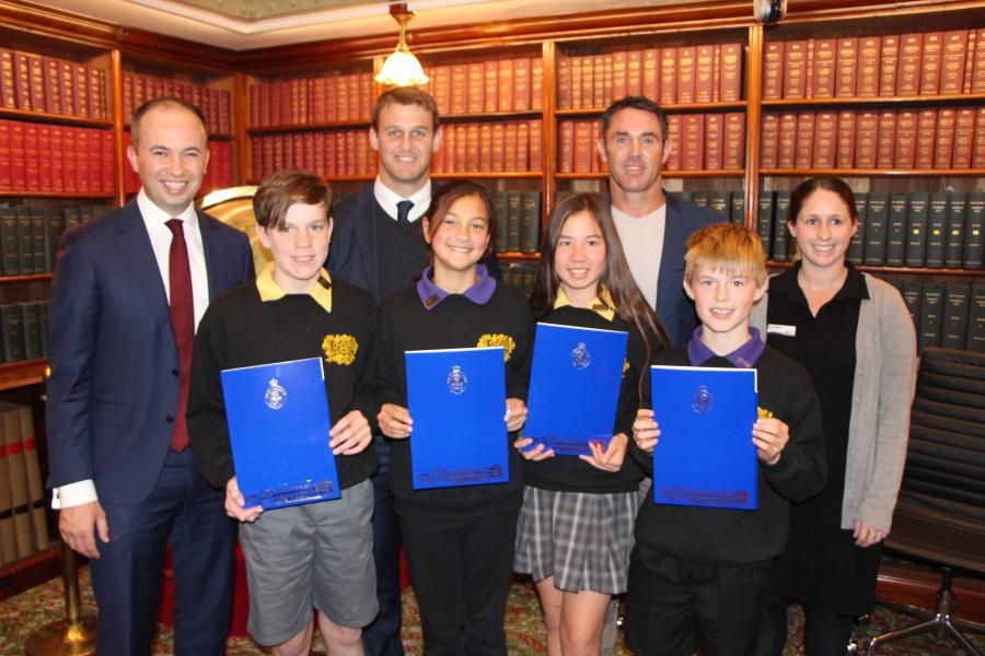 Berowra Public School visits Member for Hornsby the Hon. Matt Kean MP in NSW Parliament