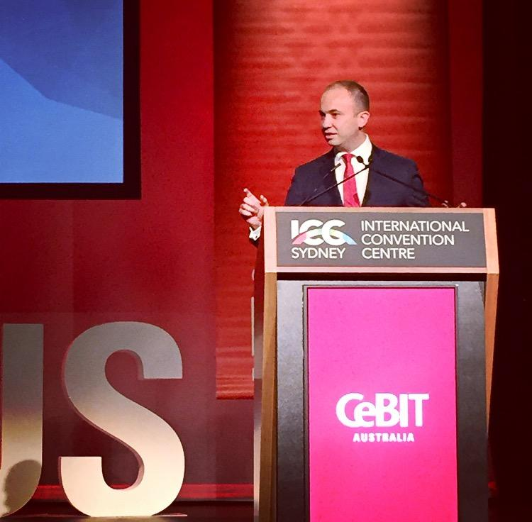 Minister for Innovation and Better Regulation Matt Kean MP speaks at launch of CeBITAUS
