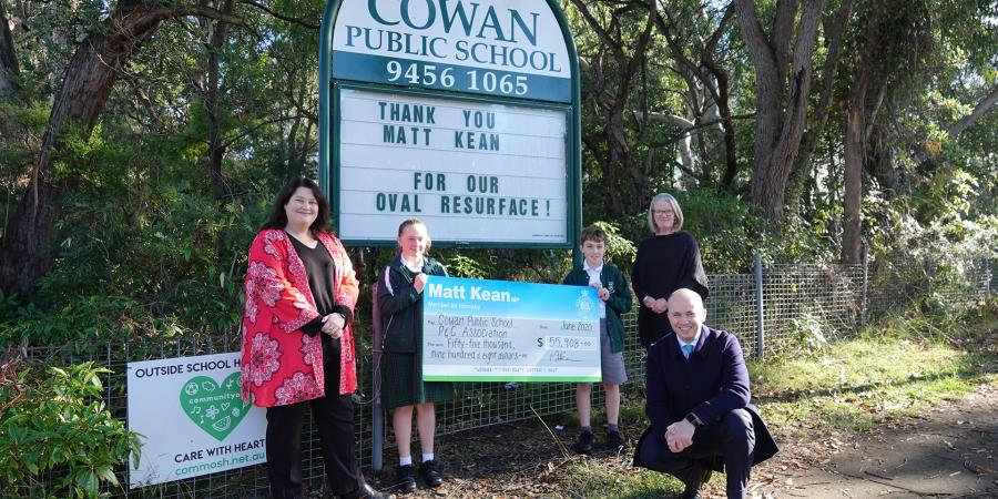 Matt Kean MP at Cowan Public School