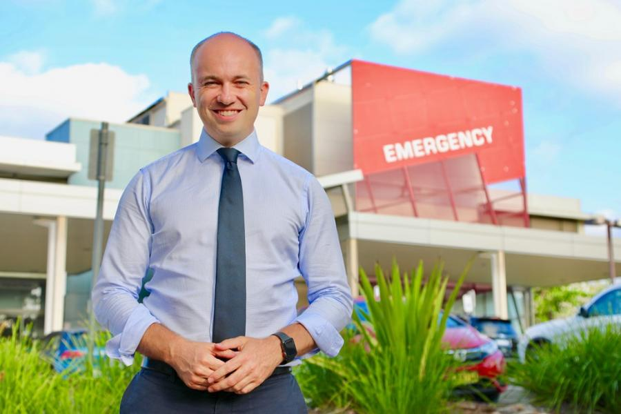 Matt Kean MP at Hornsby Hospital