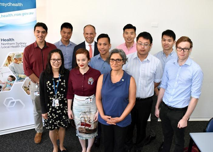 Matt Kean MP with the new Hornsby Hospital Interns