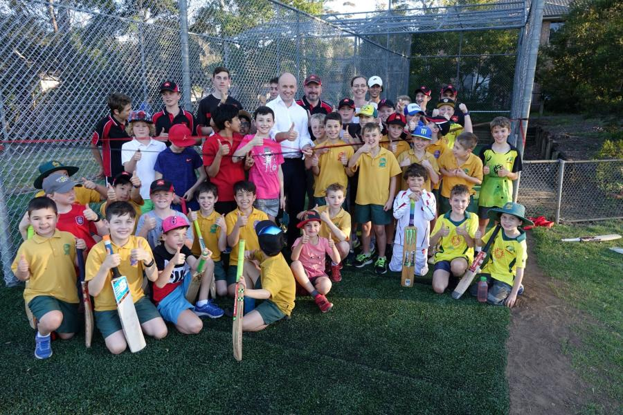 Matt Kean opens cricket nets at Normanhurst Oval