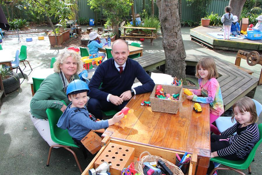 Member for Hornsby Matt Kean MP at KU Grevillea Preschool.