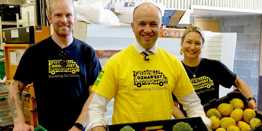 Minister Kean with OzHarvest