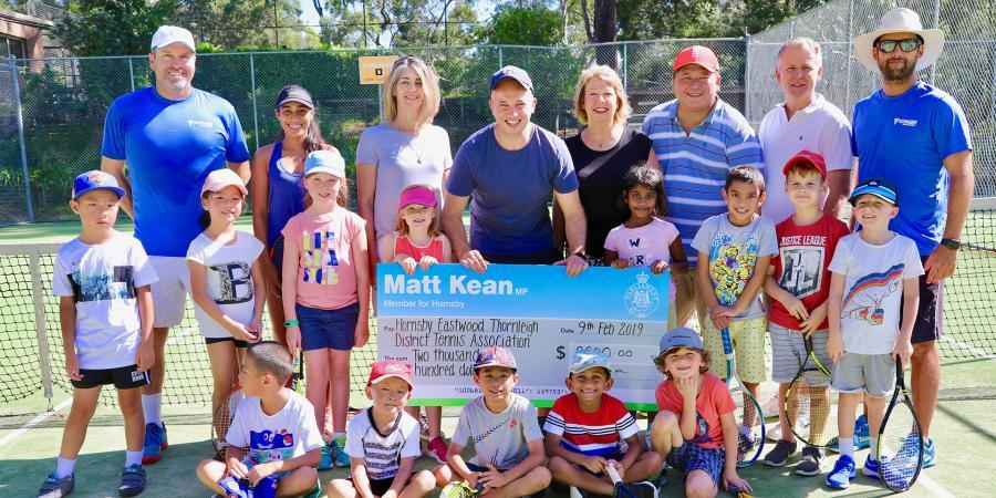 Matt Kean MP with Eastwood Thornleigh District Tennis Association