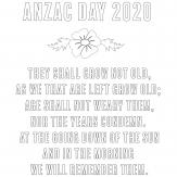 Hornsby RSL ANZAC Colouring In