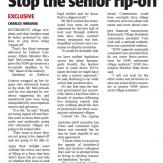 Stop the senior rip-off, Sunday Telegraph