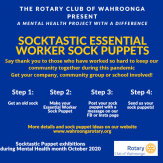 Sock Puppets project Wahroonga Rotary
