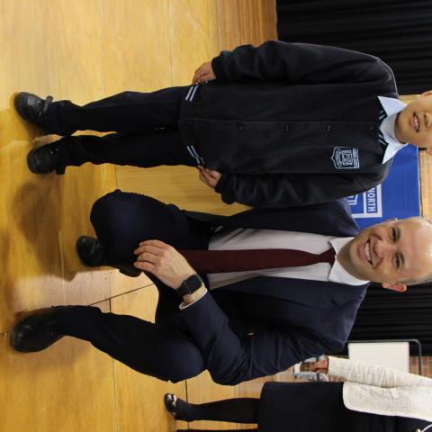 Matt Kean MP with Young Archie winner Matthew Chen