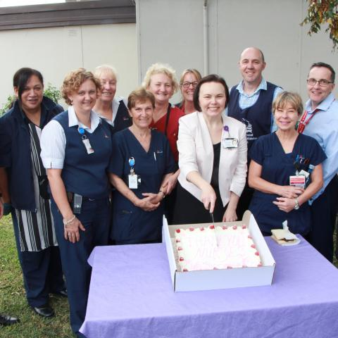 Matt Kean MP for Hornsby with the nurses at Hornsby Hospital on International Nurses Day