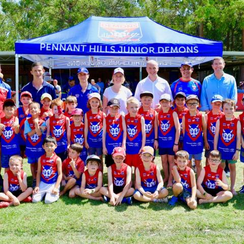 Matt Kean MP and the Pennant Hills Demons AFL Club