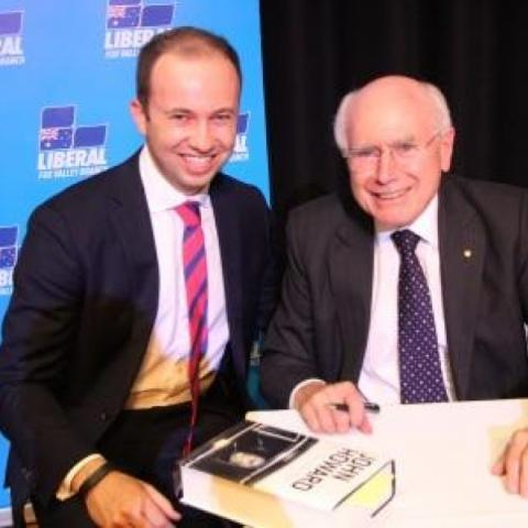 Photo of Matt Kean and John Howard