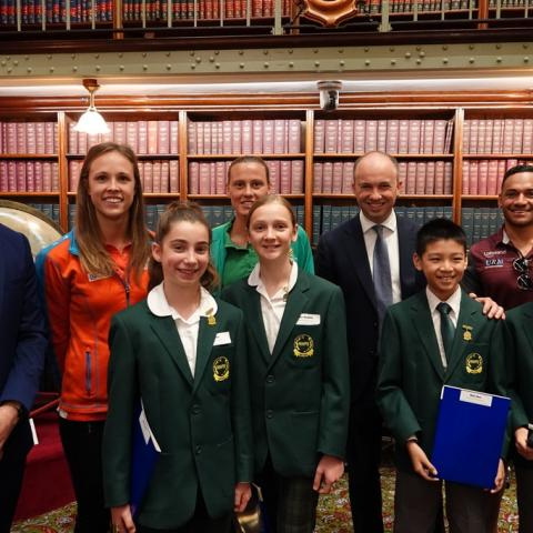 Matt Kean MP with students from Normanhurst West Public School