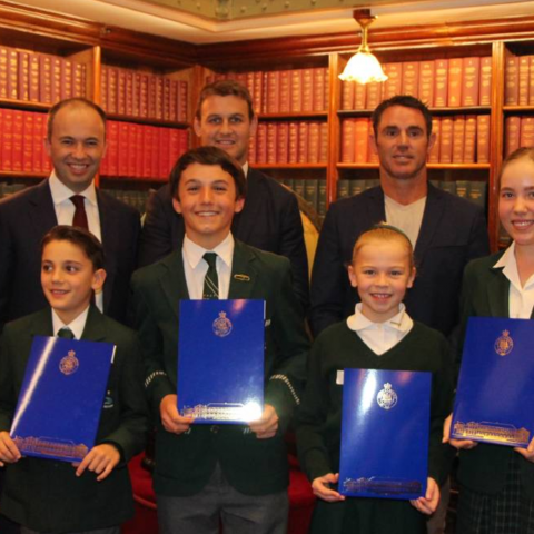 Pacific Hills Students visit The Hon. Matt Kean MP in State Parliament