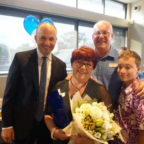 Matt Kean MP with Hornsby Woman of the Year Sallianne McClelland