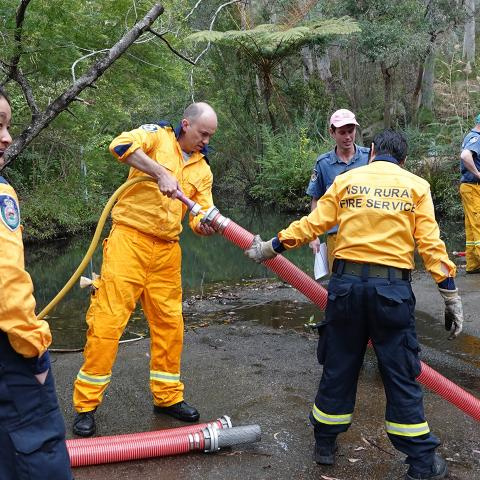 Matt Kean and Hornsby Rural Fire Service
