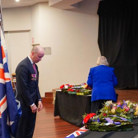 Matt Kean attends Galston ANZAC Service