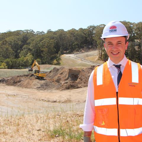 Matt Kean MP Member for Hornsby visits Hornsby Quarry site
