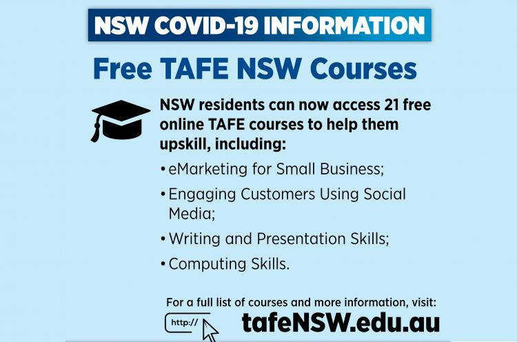 Free TAFE NSW courses