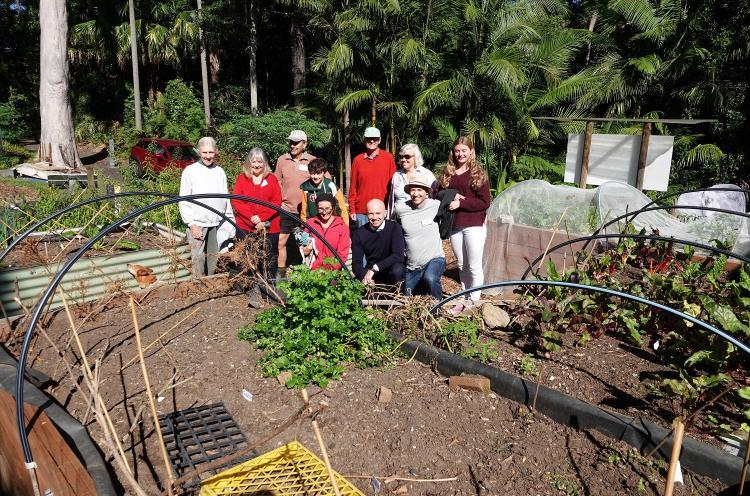 Matt Kean visits the Hornsby Community Garden
