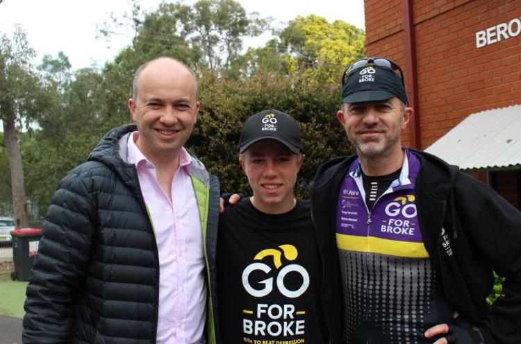 Matt Kean MP attends Go For Broke