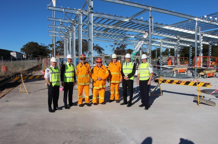 Matt Kean MP inspect new RFS building in Cowan