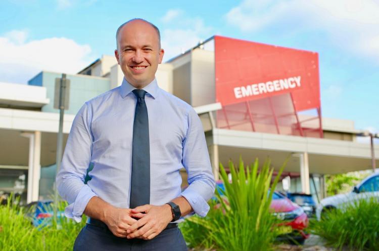 Matt Kean MP at Hornsby Hospital