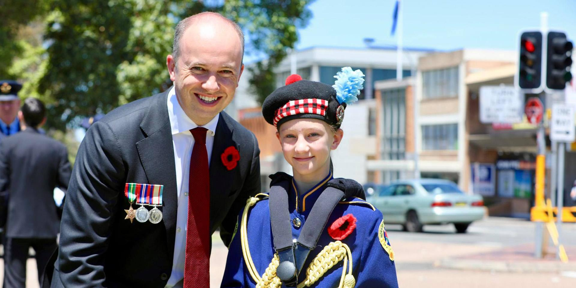 Matt Kean MP attends Remembrance Day