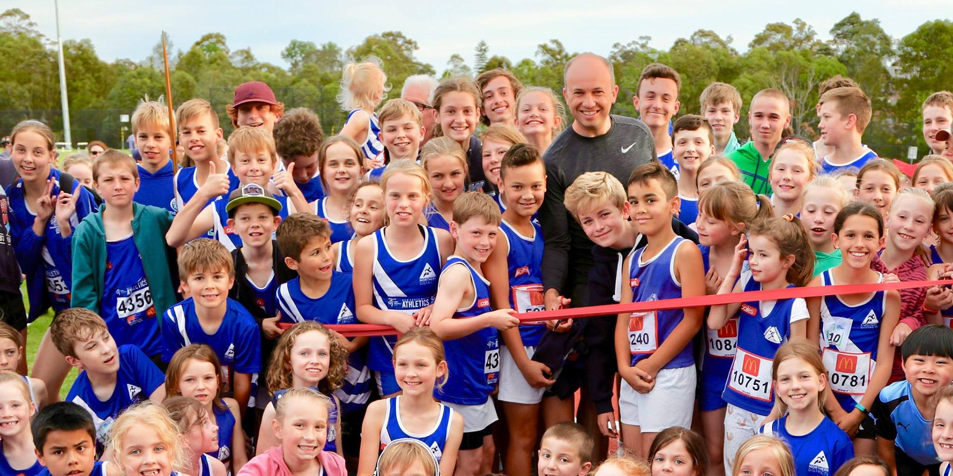 Matt Kean MP with Northern District Little Athletics