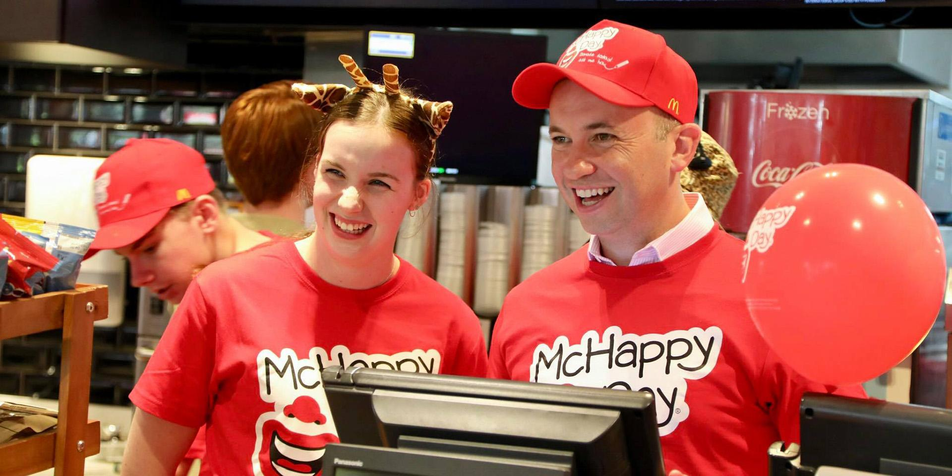 Matt Kean MP attends McHappy Day