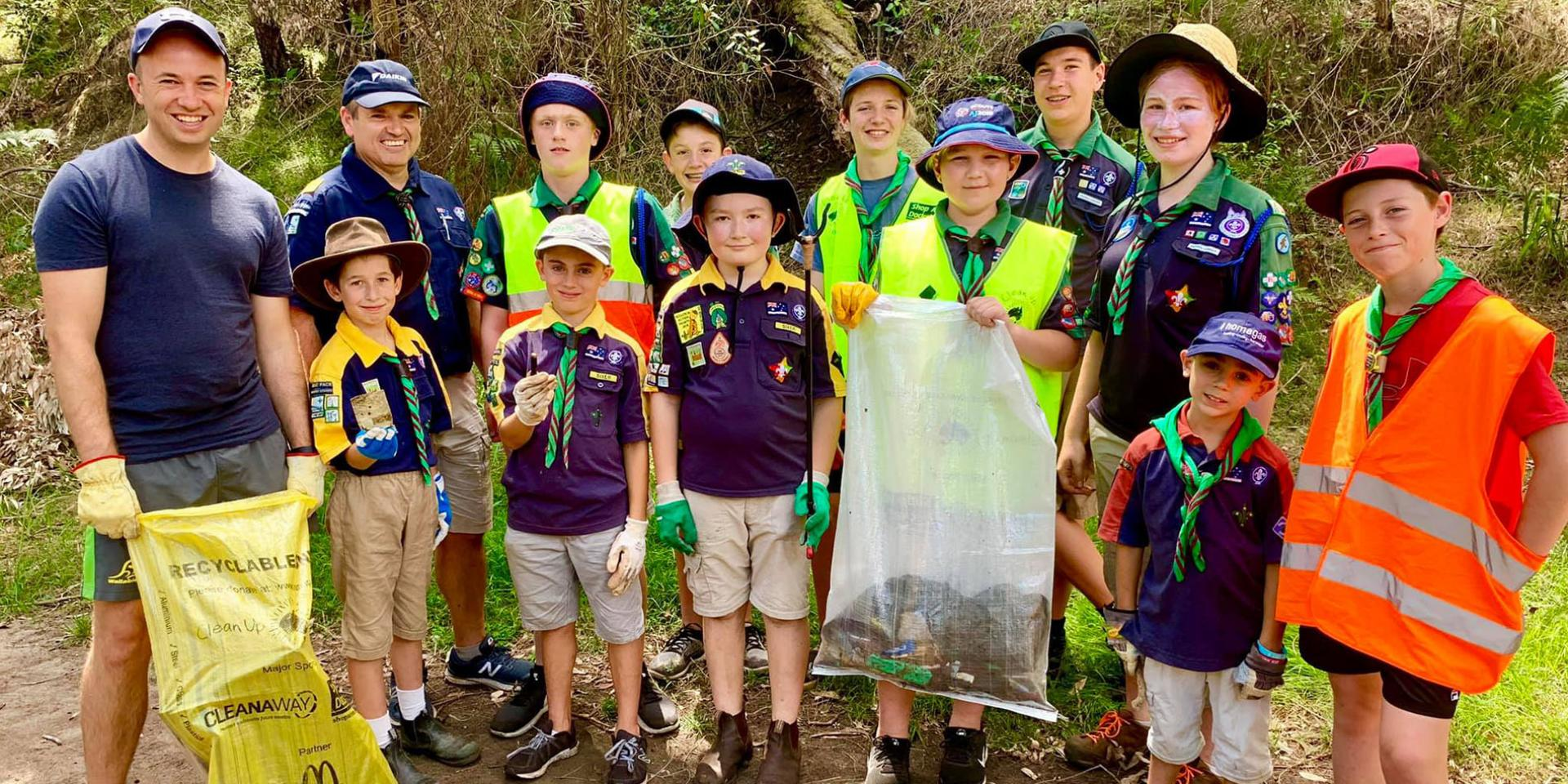 Hornsby Heights 1st Scouts on Clean Up Australia Day