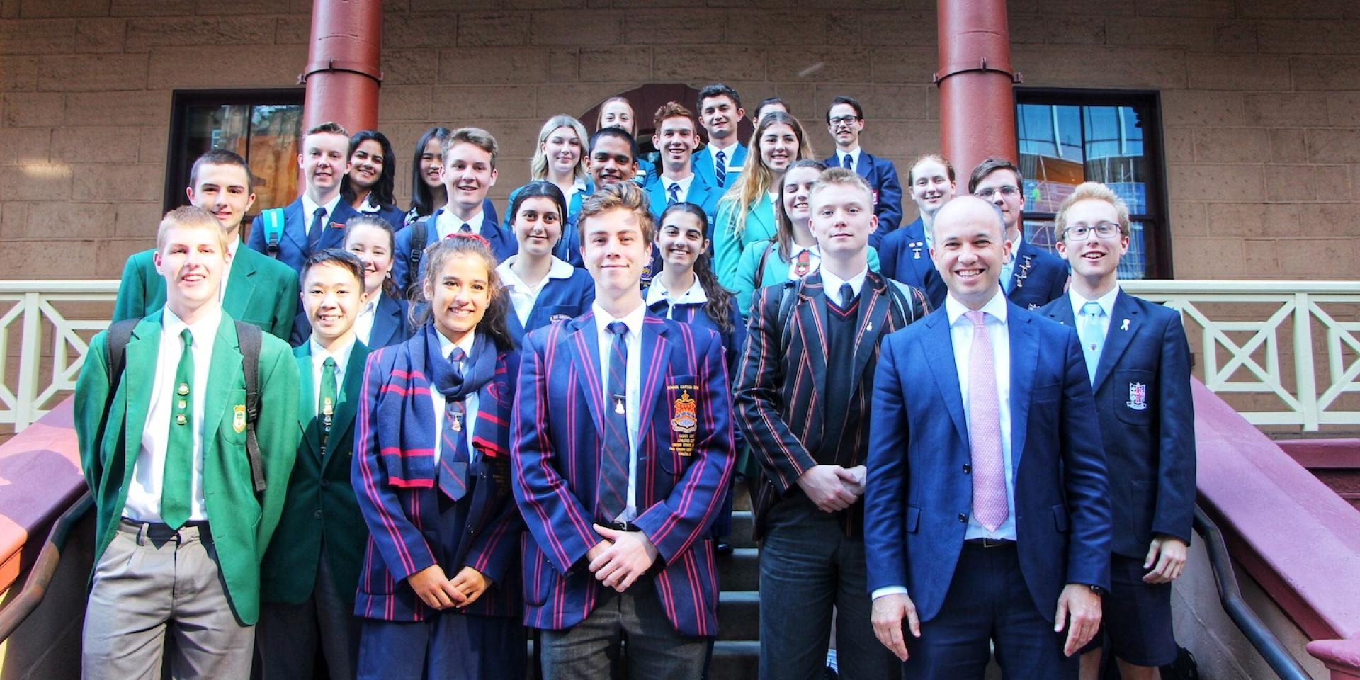 Minister Kean with School Leaders from Hornsby High Schools