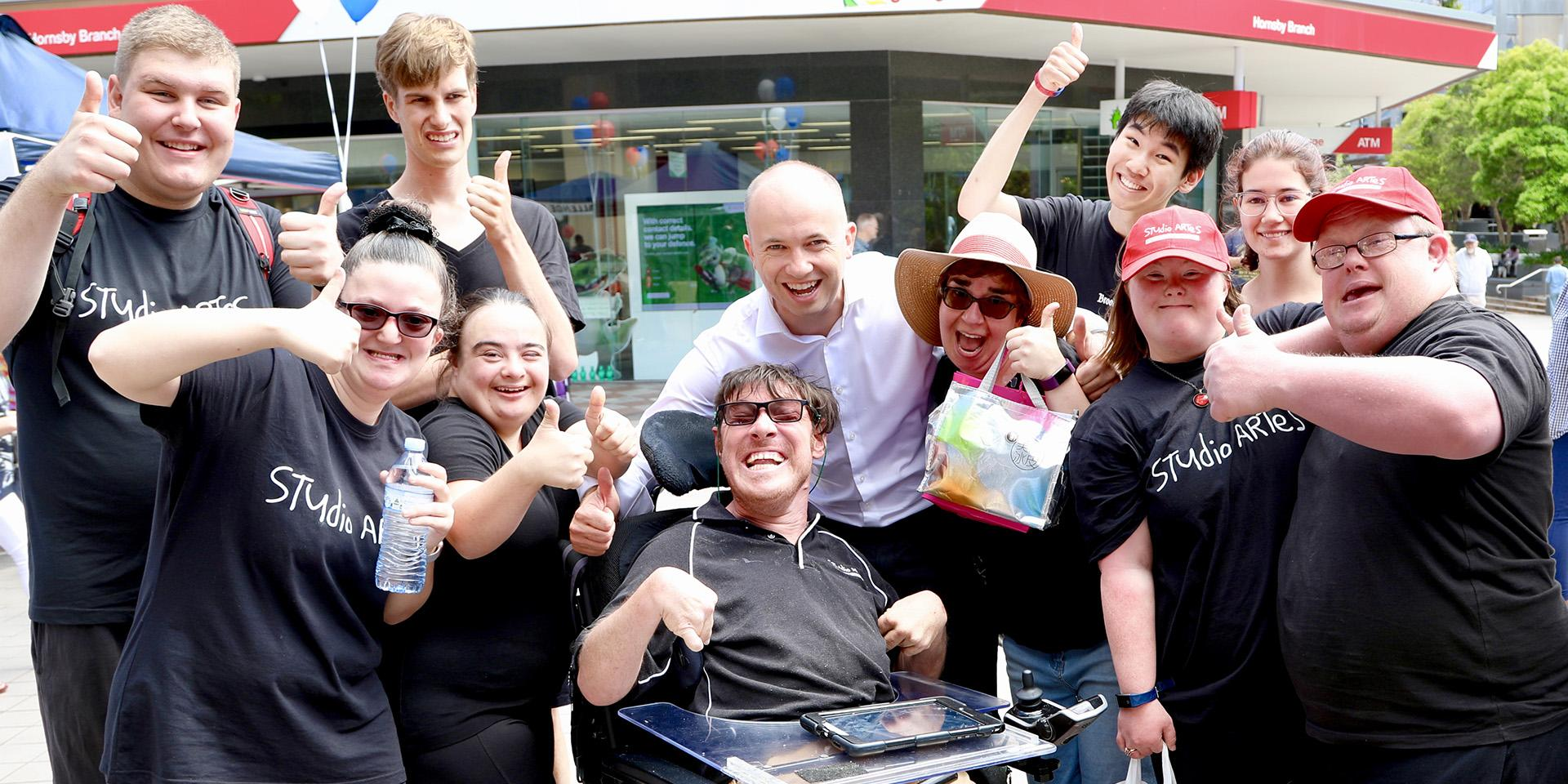 Member for Hornsby Matt Kean MP with members of STUDIO ARTES