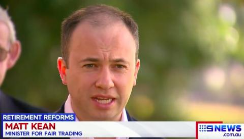 Minister Kean speaks to Channel Nine about retirement village reforms