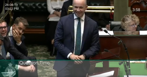 Minister Kean in NSW Parliament