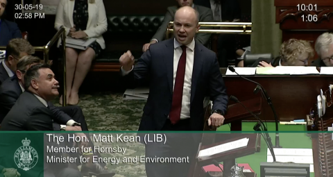 Minister Kean in Question Time 30th of May