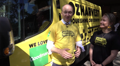 Matt Kean MP with OzHarvest