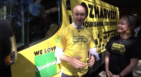 Matt Kean MP with OzHarvest