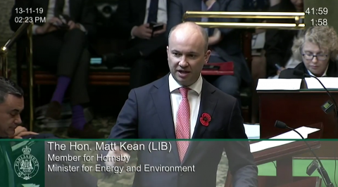 Minister for Energy and Environment Matt Kean MP