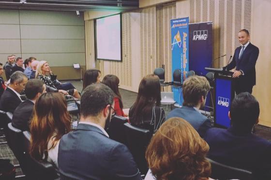 Minister for Innovation and Better Regulation Matt Kean speaks at ACIC event in Sydney