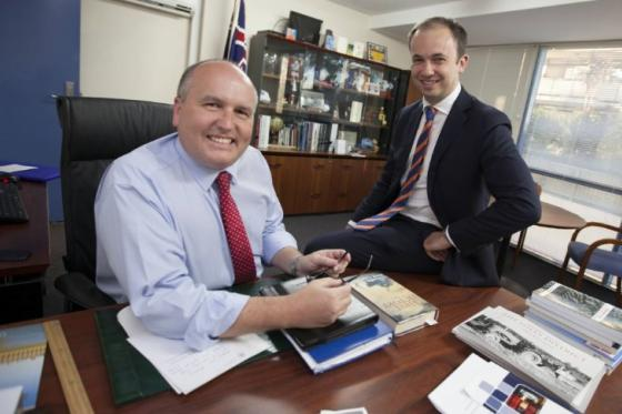 Baulkham Hills MP David Elliott and Hornsby MP Matt Kean Photo: Hills News
