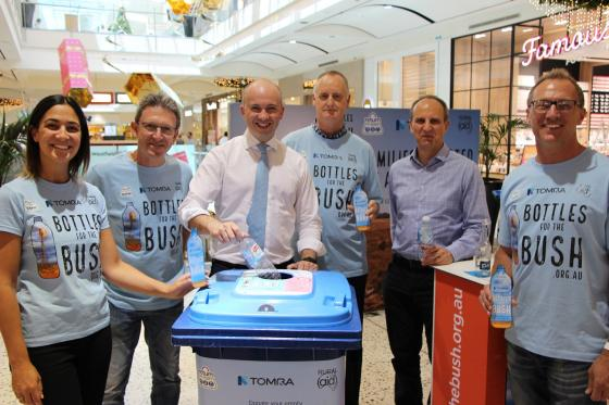 Matt Kean MP with the team from TOMRA