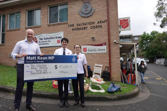 Matt Kean visits Hornsby Salvation Army