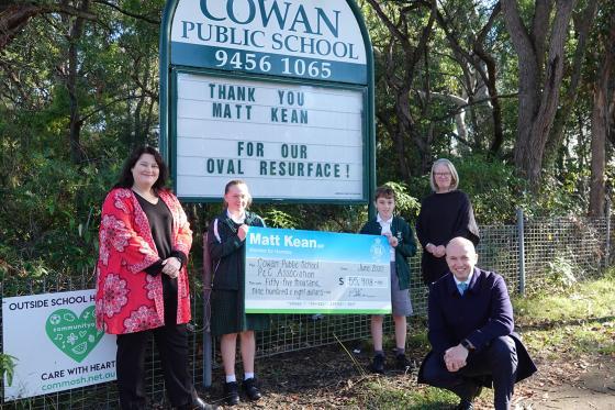 Matt Kean MP at Cowan Public School