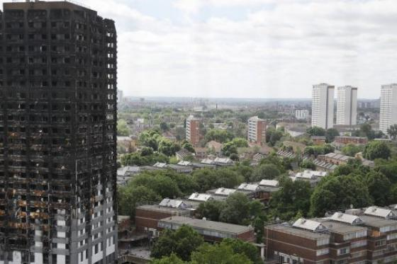 Grenfell fire disaster London Photo: AP
