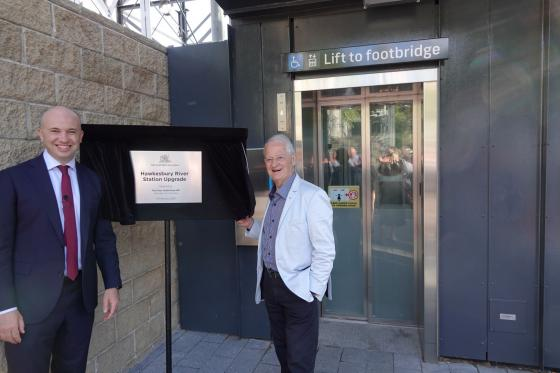Opening of Hawkesbury River Station Lifts