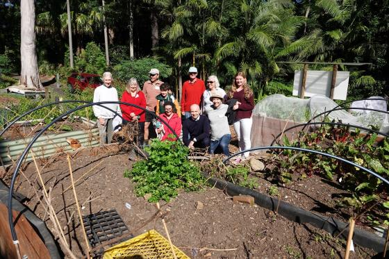 Matt Kean visits the Hornsby Community Garden