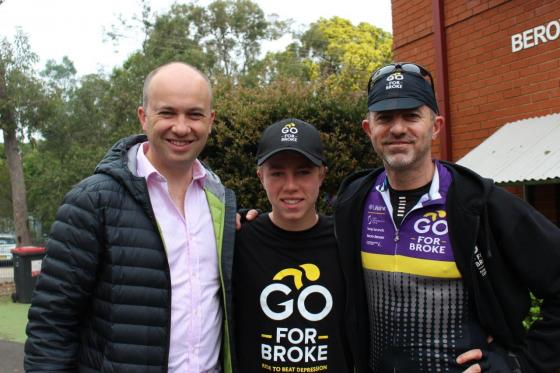 Matt Kean MP attends Go For Broke