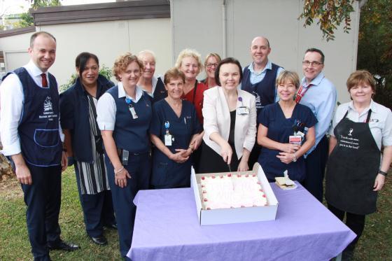 Matt Kean MP for Hornsby with the nurses at Hornsby Hospital on International Nurses Day