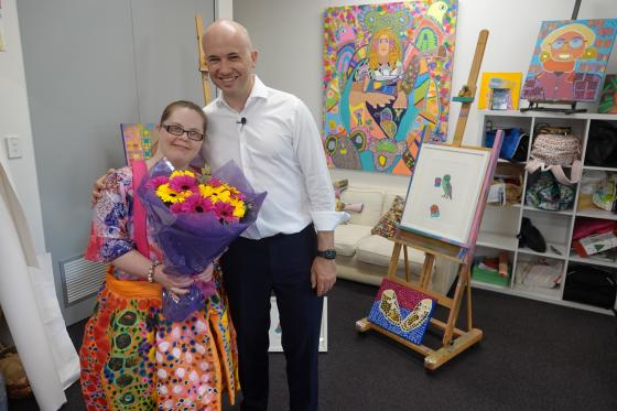 Hornsby Woman of the Year Emily Crockford with Matt Kean